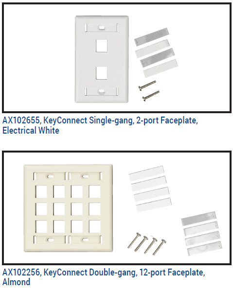 Us Style Keyconnect Faceplate Workstation Outlets Belden